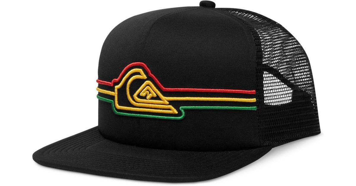 ead109fecde ... official store lyst quiksilver strapped mesh trucker hat in black for  men 3bcf7 e99f9