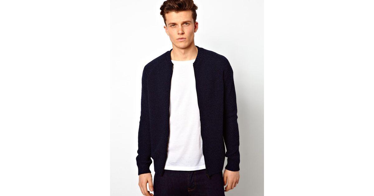 Asos jacket in bonded knit