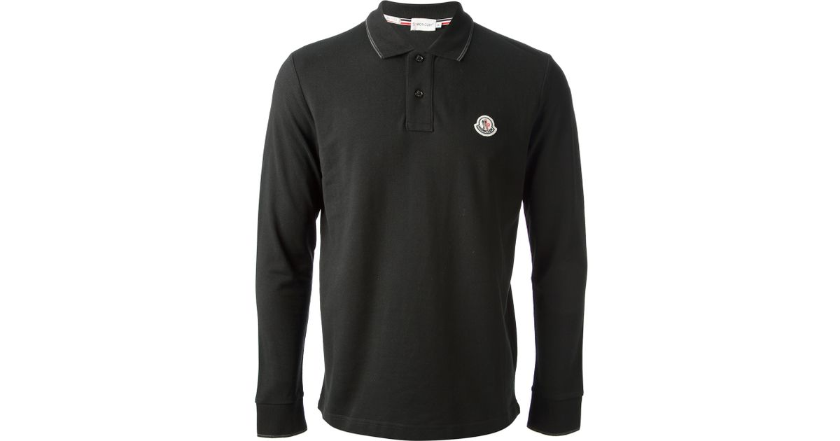 moncler long sleeve polo shirt sale