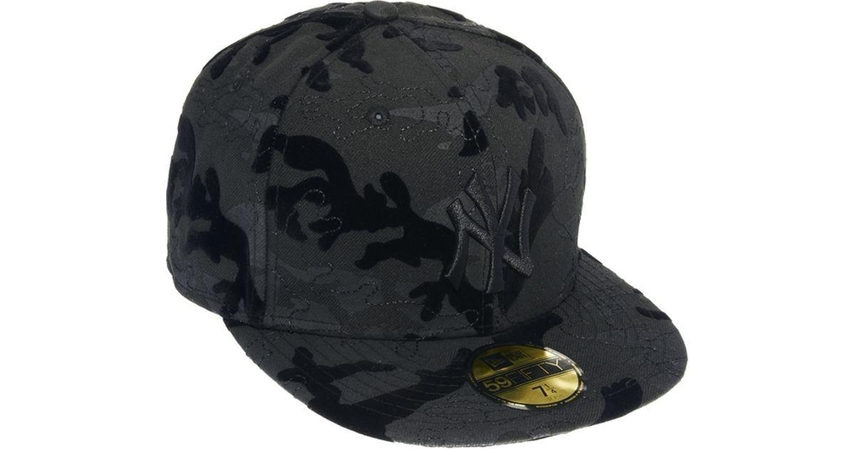 Lyst - KTZ 59fifty Ny Tonal Camo Cap in Black for Men 19ccb3a9126
