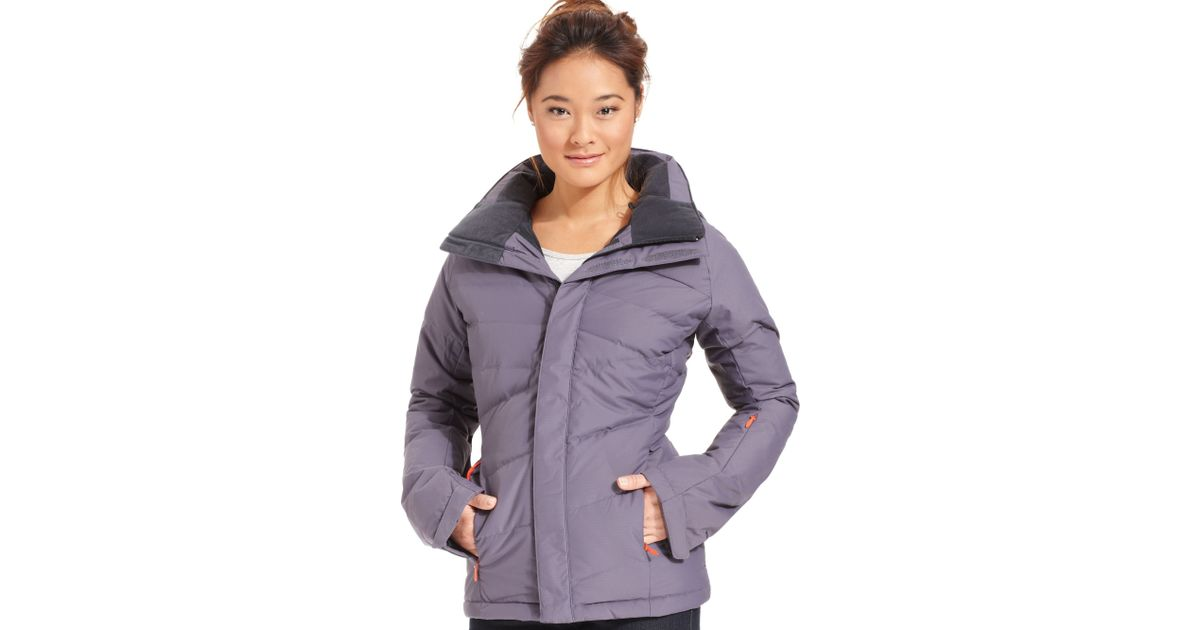 ... discount code for lyst the north face heavenly down quilted puffer ski jacket  in blue 8a5b3 202d739e0