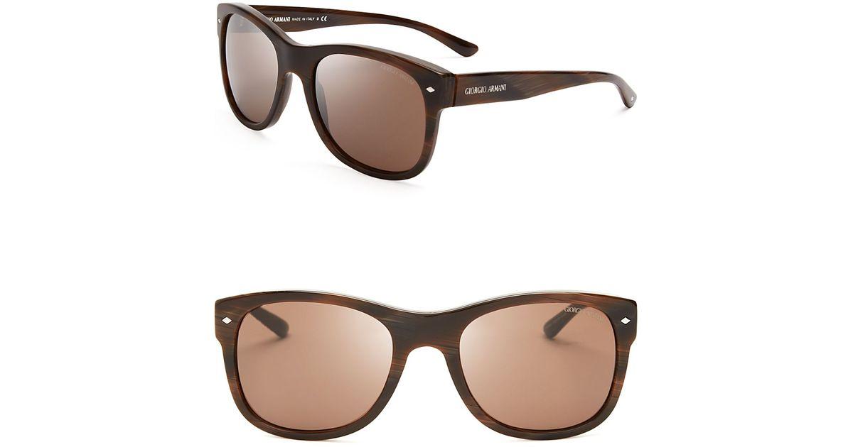Lyst - Giorgio Armani Frames Of Life Wayfarer Sunglasses in Brown ...