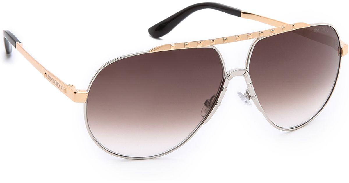 2c27c8d1529 Lyst - Jimmy Choo Benny Sunglasses - Palladium Grey Gradient in Metallic