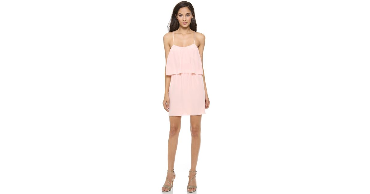 2b1cba6ee6e2 Lyst - Rory Beca Rafael Cross Back Dress - Baby Pink in Pink