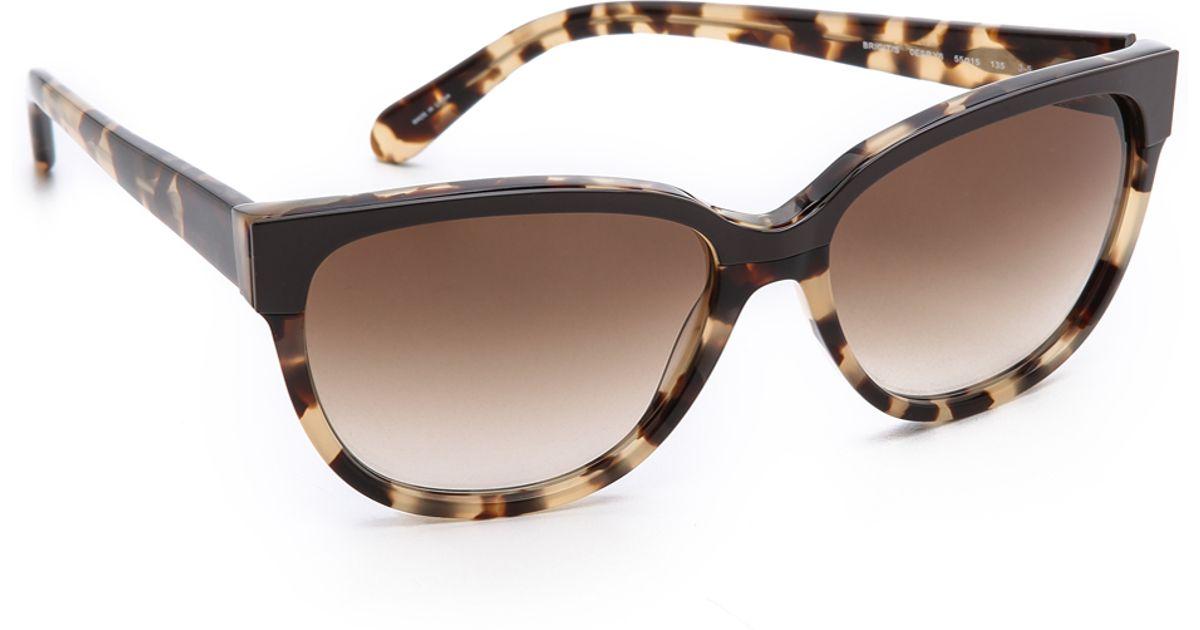 5b276500ed7f Lyst - Kate Spade Brigit Sunglasses - Camel Tortoise Brown Gradient in Brown