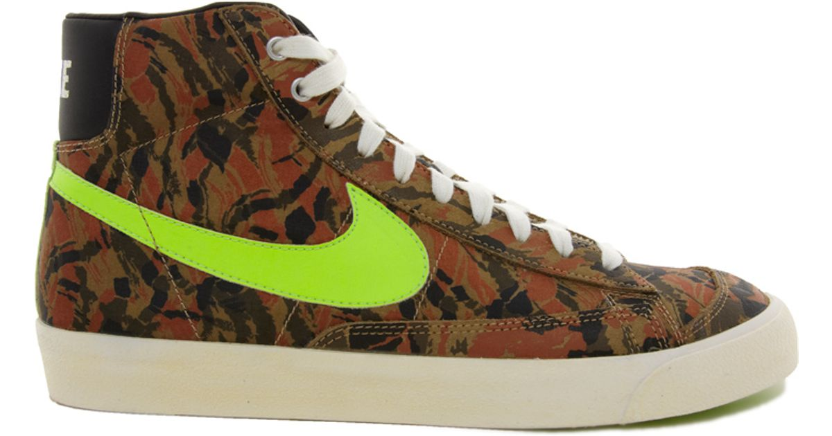 Lyst - Nike Blazer Mid 77 Camo Trainers in Green for Men ccfd0085f4d0