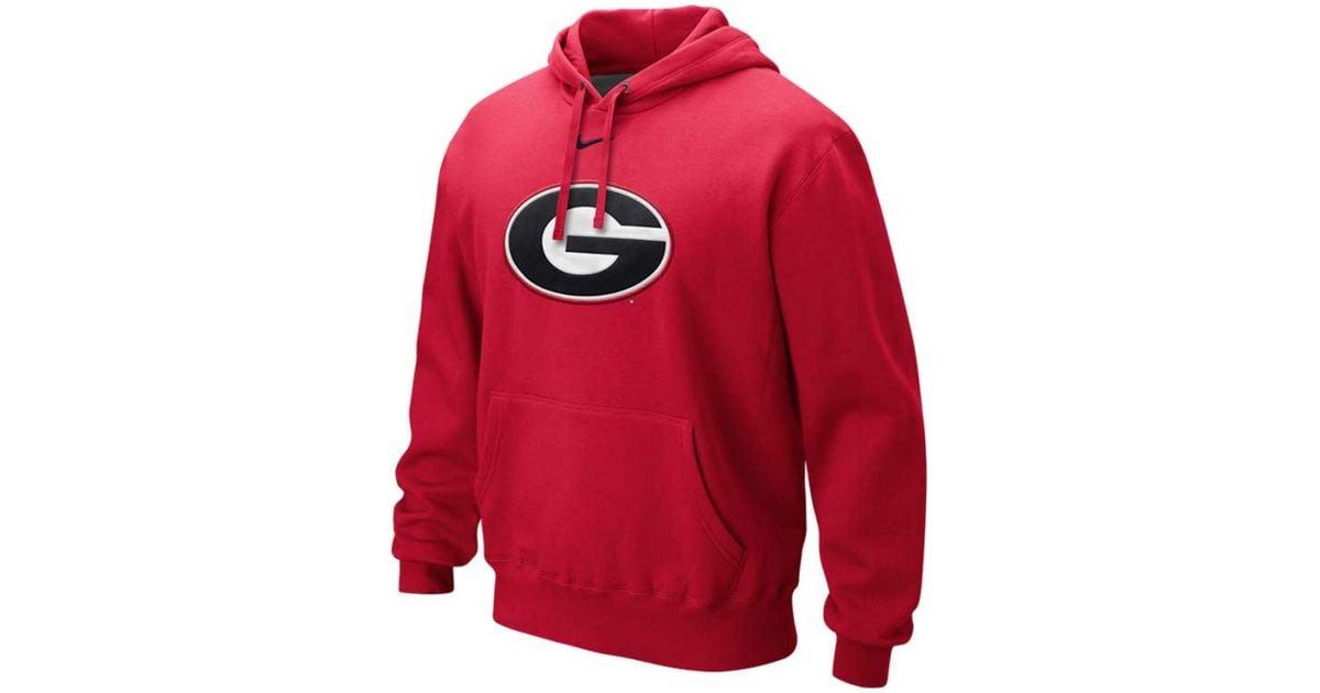 ee170b01b472 Lyst - Nike Mens Georgia Bulldogs Classic Logo Hoodie in Red for Men