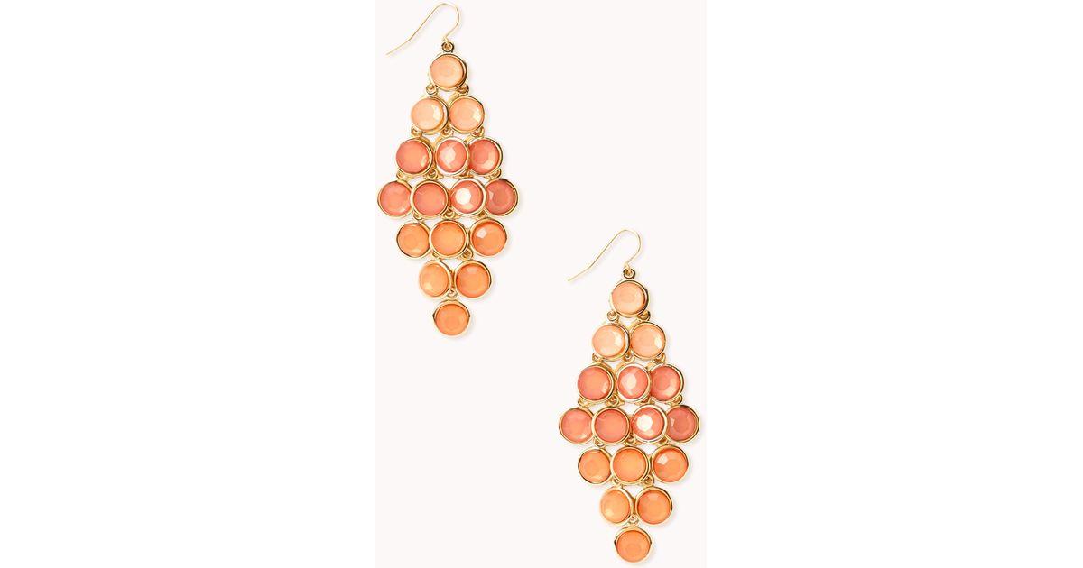 Forever 21 Standout Ombré Chandelier Earrings in Orange | Lyst