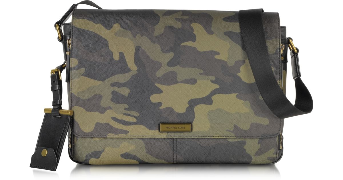 Lyst - Michael Kors Jet Set Camo Large Mens Bag in Natural for Men 6f83482758de
