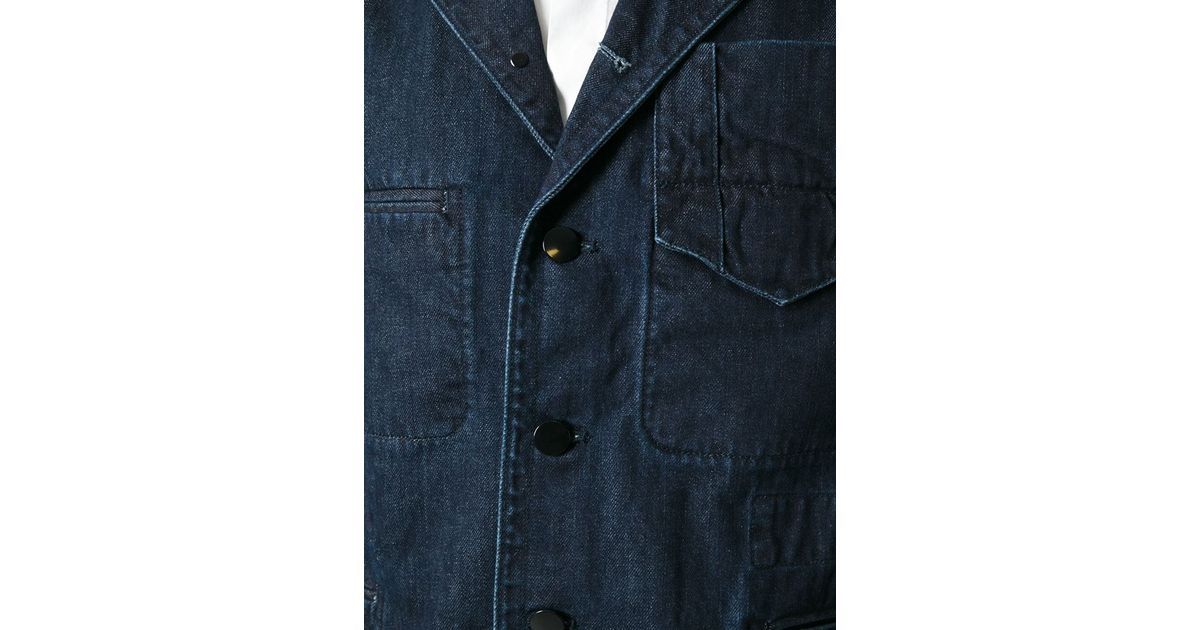 6c539a398a Lyst - Carven Raw Denim Jacket in Blue for Men