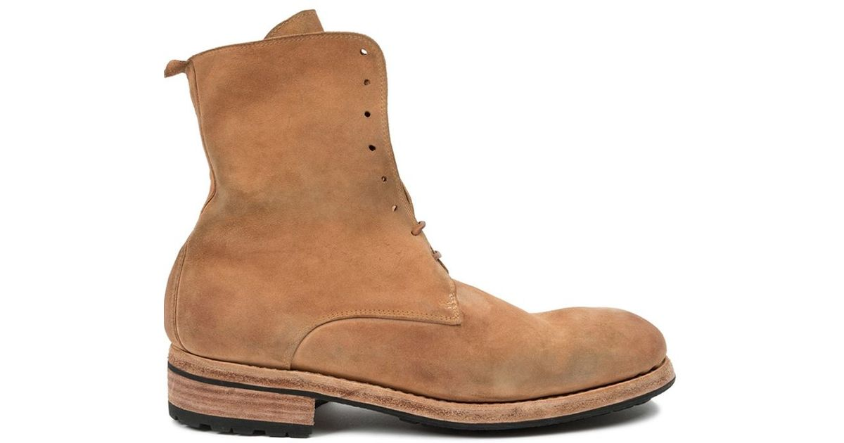 guidi lace up boots in brown for lyst