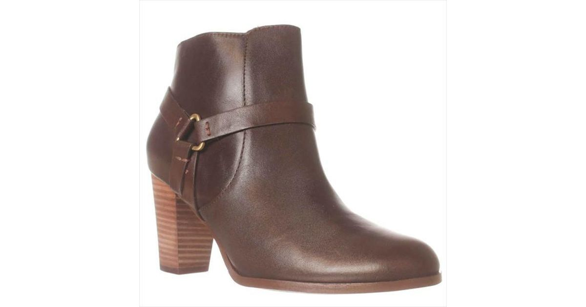 cole haan calixta ankle boot in brown lyst