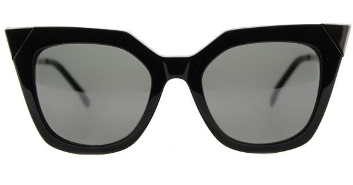 770abbd137 Fendi Irida Ff 0060 Kkl Black Dark Ruthenium Square Cat-eye Plastic  Eyeglasses in Gray - Lyst