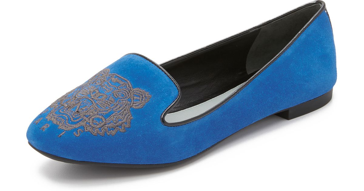 Kenzo tiger smoking slippers in blue lyst - Bleu gris clair ...