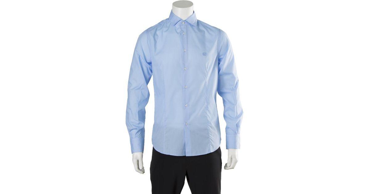 Lyst Roberto Cavalli Class Dress Shirt In Blue For Men