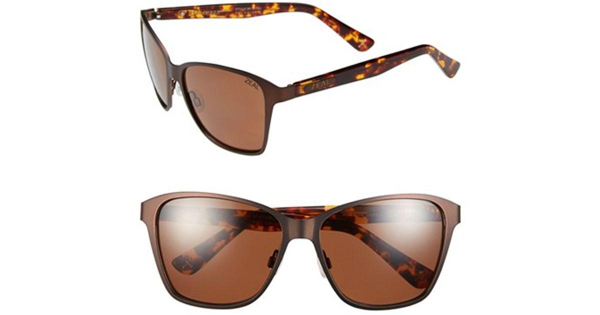 8343ce8a644 Lyst - Zeal Optics  laurel Canyon  57mm Retro Polarized Sunglasses - Laurel  Canyon Copper in Metallic