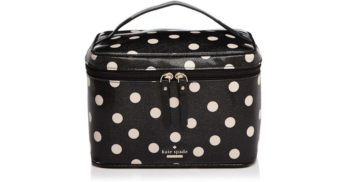 Lyst Kate Spade New York Cedar Street Dot Large Natalie Cosmetic Case In Black