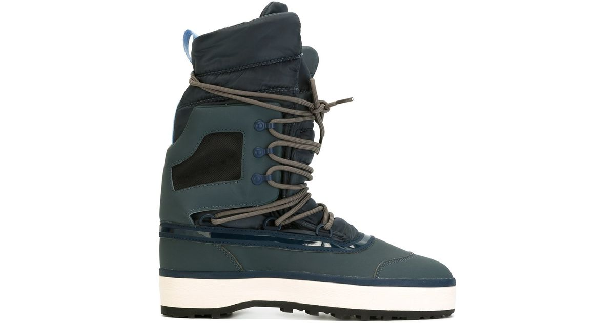Lyst adidas stella mccartney lace up after ski boots in brown jpg 1200x630 Adidas  lace up 173843574