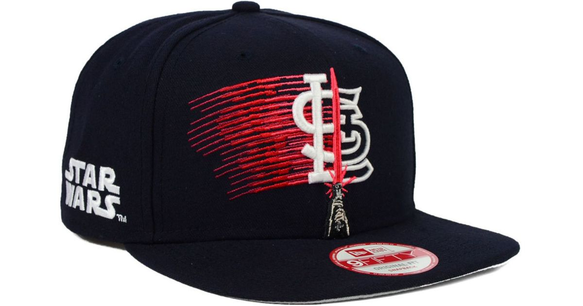 uk availability 7827d 6c8cf ... 50% off lyst ktz st. louis cardinals star wars logoswipe 9fifty  snapback cap in