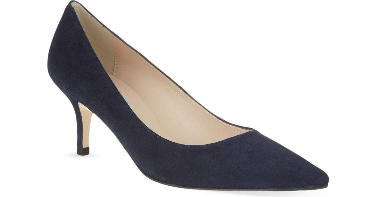 f128a8ee63c L.K.Bennett Florisa Suede Court Shoes in Blue - Lyst
