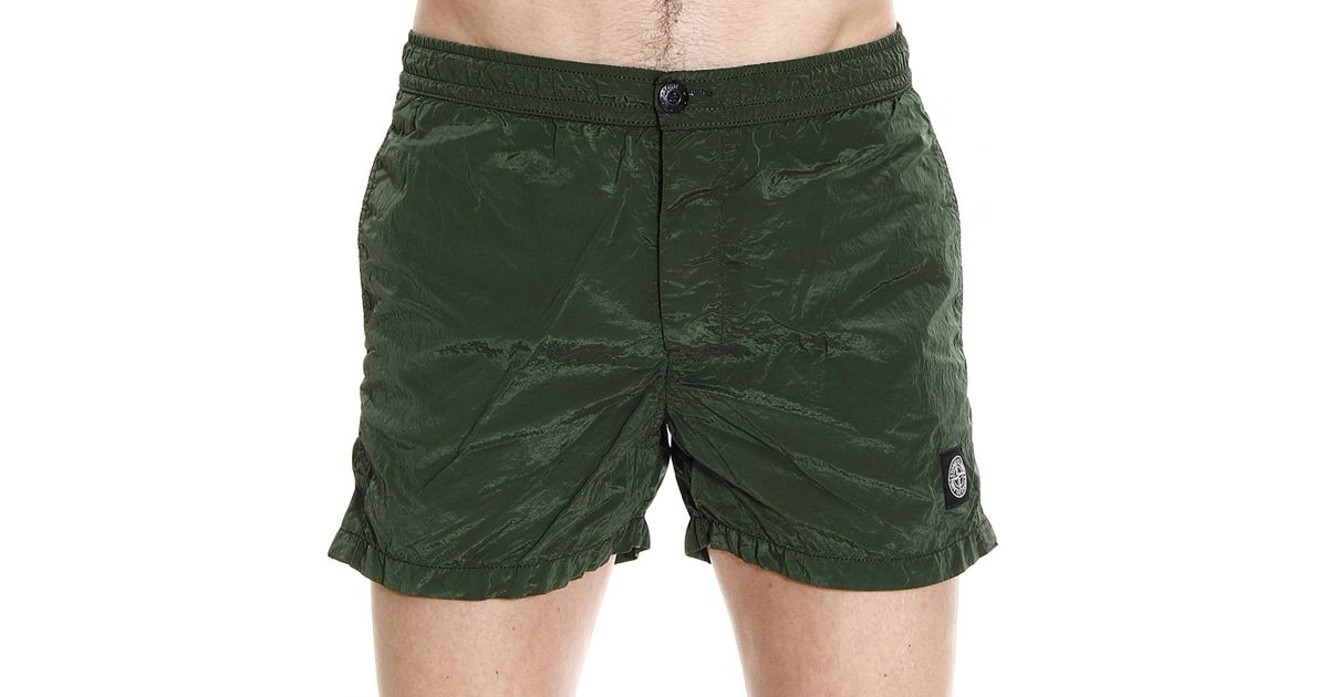 2ee1835457 Stone Island Beachwear Swimwear Nylon Metal Boxer With Buttons in Green for  Men - Lyst