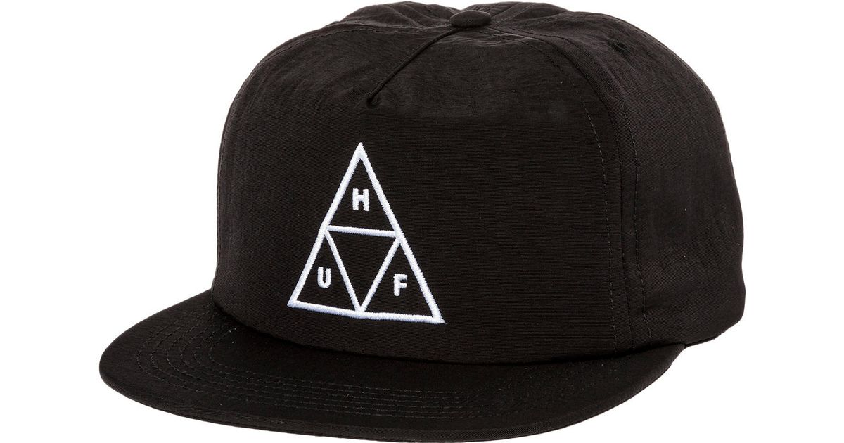 a3677a54135 Lyst - Huf The Triple Triangle Snapback Hat in Black for Men
