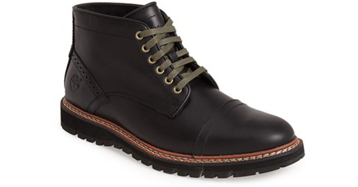 Lyst - Timberland Earthkeepers 'britton Hill' Cap Toe Chukka Boot in Black  for Men