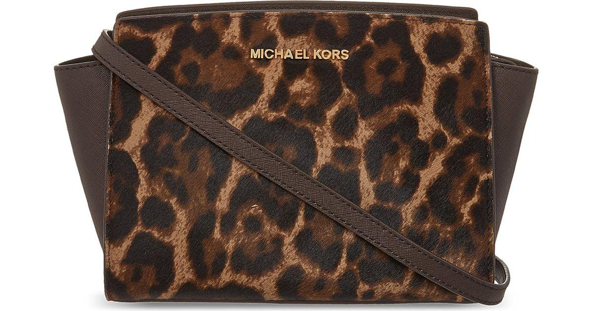 ffe526480af0b2 MICHAEL Michael Kors Selma Medium Leopard Print Shoulder Bag Leopard - Lyst