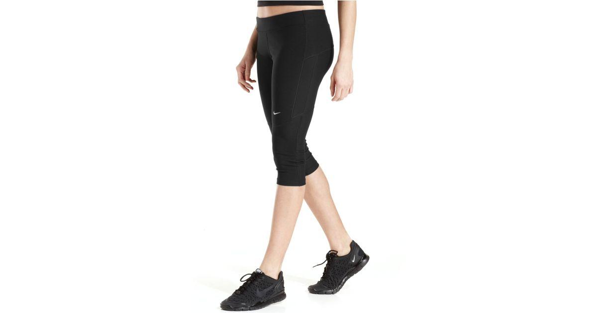 2da51fc202fd Lyst - Nike Filament Dri-Fit Active Capri Leggings in Black