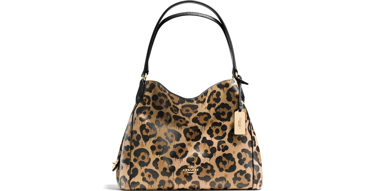 Lyst - COACH Turnlock Leather Tote Bag 633e14c484aa8