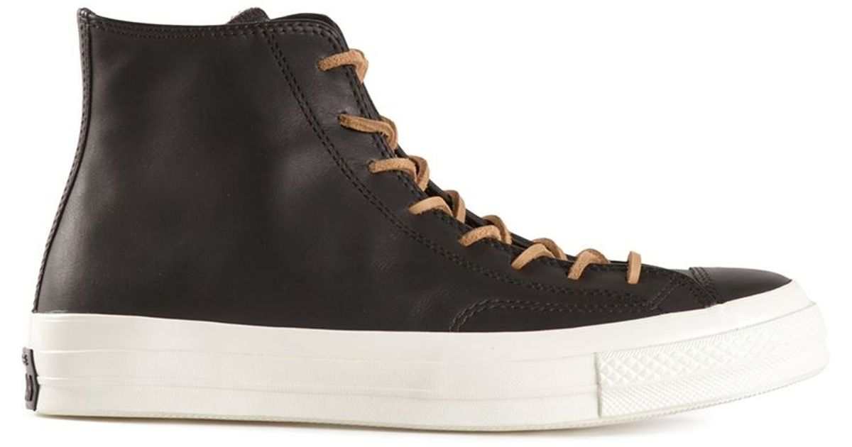d31b2977e515 Lyst - Converse Thick Soled Lace-Up Sneakers in Black for Men