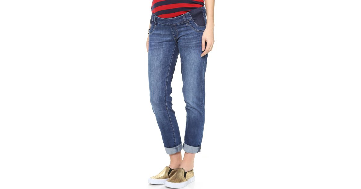 Dl1961 Riley Maternity Boyfriend Jeans - Chambers in Blue ...
