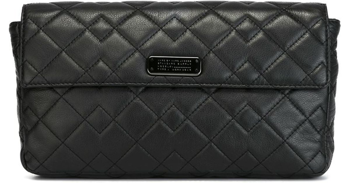 38d362b3cacd Lyst - Marc By Marc Jacobs  crosby Quilted Jemma  Clutch in Black
