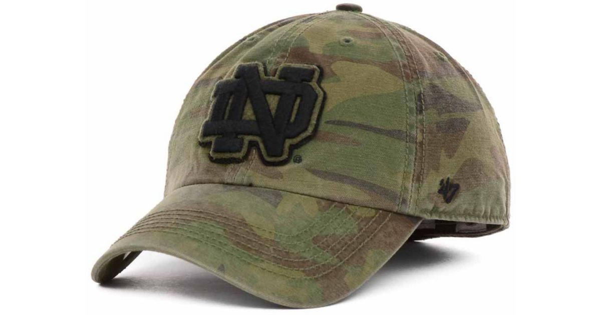 0d46162912f9c ... shopping lyst 47 brand notre dame fighting irish movement franchise cap  in green for men 0c78e