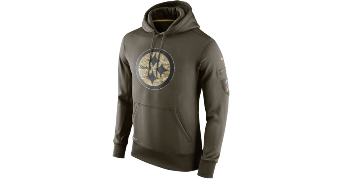 32f13754947 Nike Men s Pittsburgh Steelers Salute To Service Ko Hoodie in Green for Men  - Lyst
