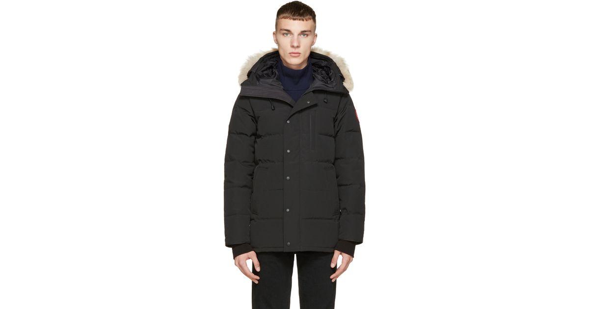 Canada Goose toronto sale price - Canada goose Black Down & Fur Black Label Carson Parka in Black ...