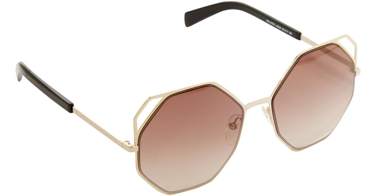 050e7bfbf05 Lyst - Marc By Marc Jacobs Gold-tone Octagon Metal Frame Sunglasses in  Metallic