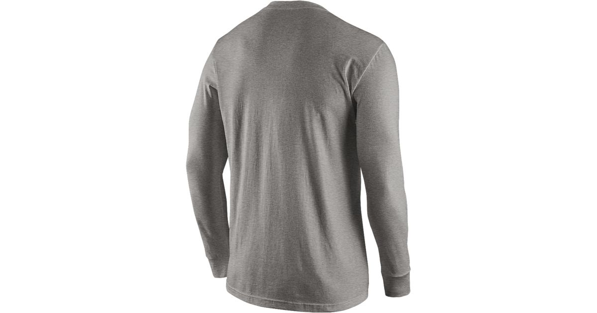 Lyst - Nike Men S Long-Sleeve New England Patriots Reflective T-Shirt in  Gray for Men 0667d888f