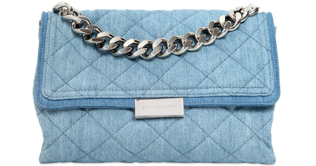 9fea885b8c71 Lyst - Stella Mccartney Soft Beckett Quilted Shoulder Bag in Blue