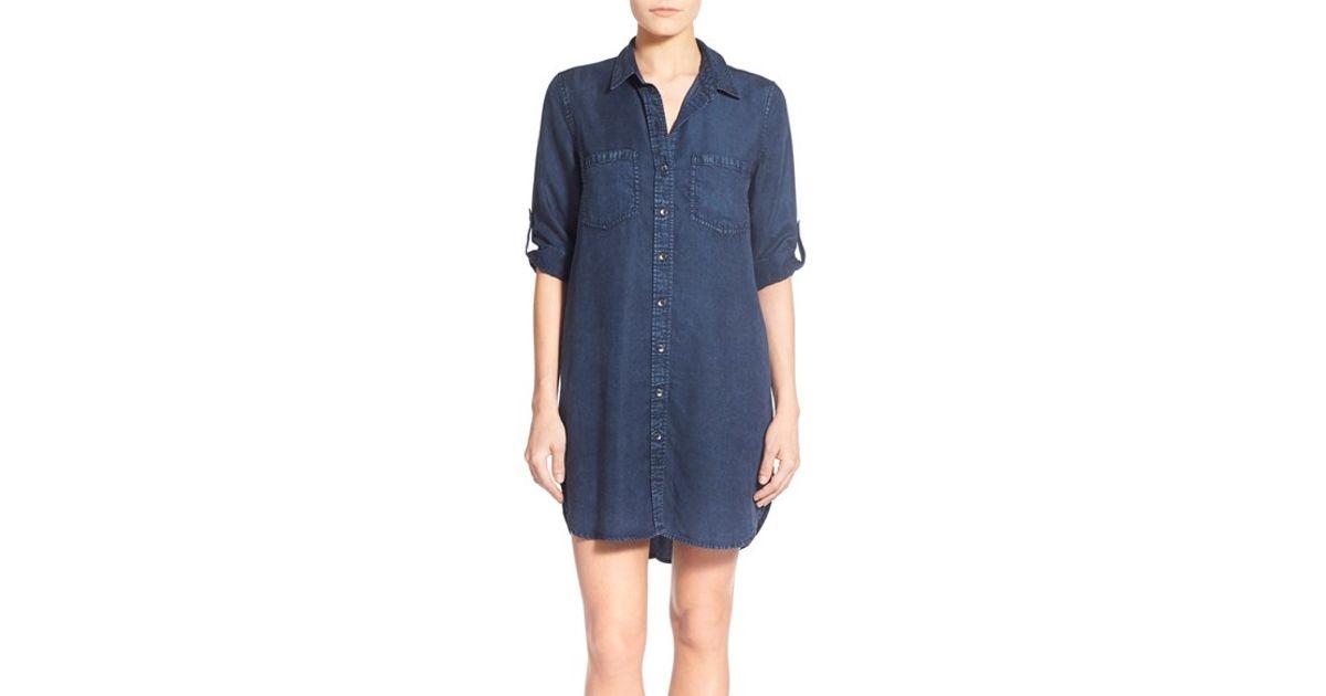 f7f600a741 Lyst - Dex Denim Shirtdress in Blue