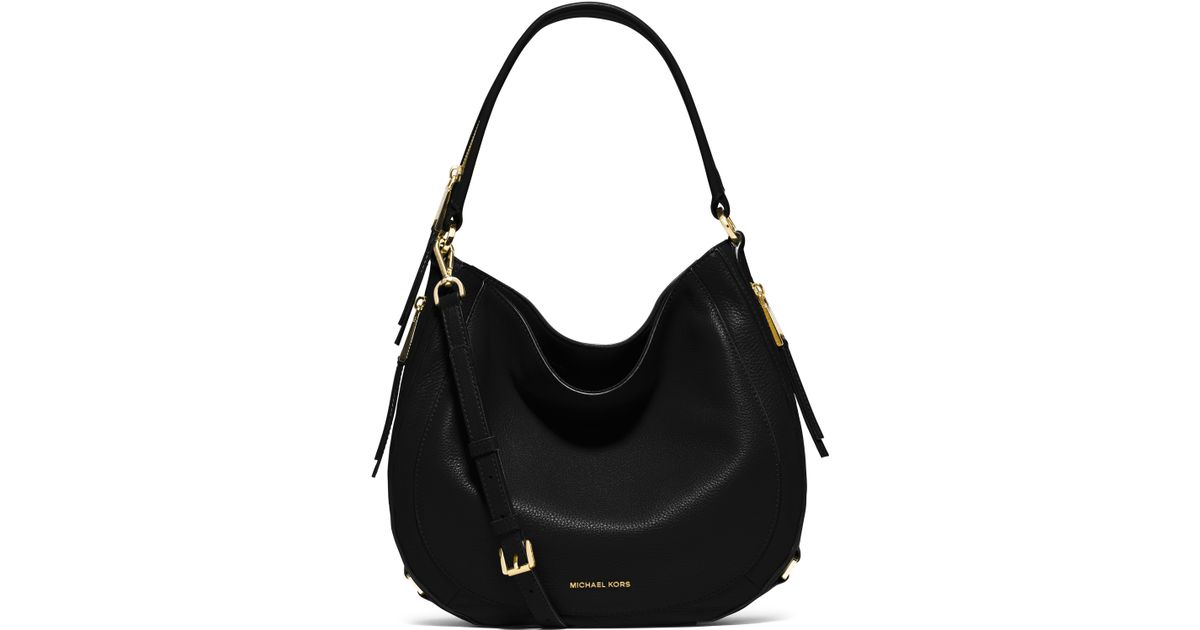 a3193600d617 Lyst - MICHAEL Michael Kors Julia Medium Leather Hobo Bag in Black