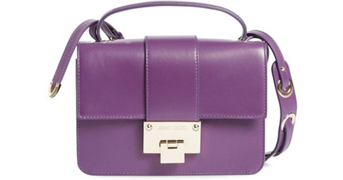 973665eaff Lyst - Jimmy Choo Rebel Leather Cross-Body Bag in Purple