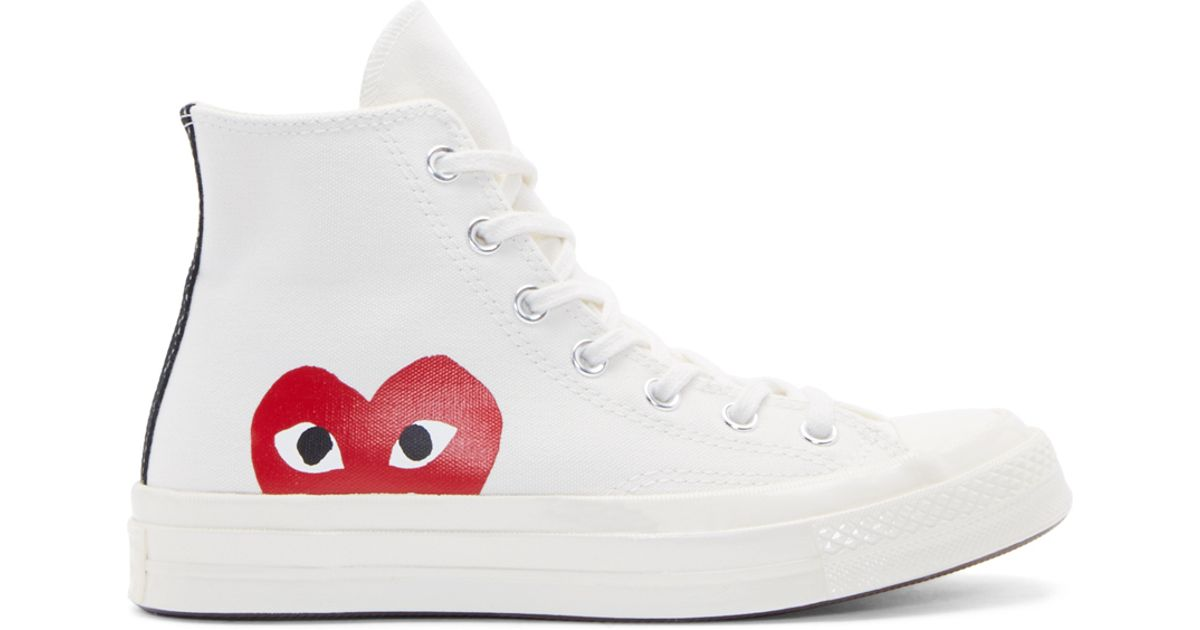 converse heart white shoes