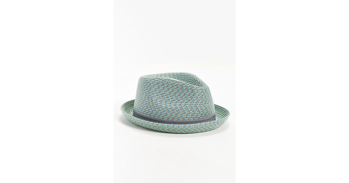 Lyst - Bailey of Hollywood Mannes Mint Straw Fedora Hat in Green for Men b4f7d886758