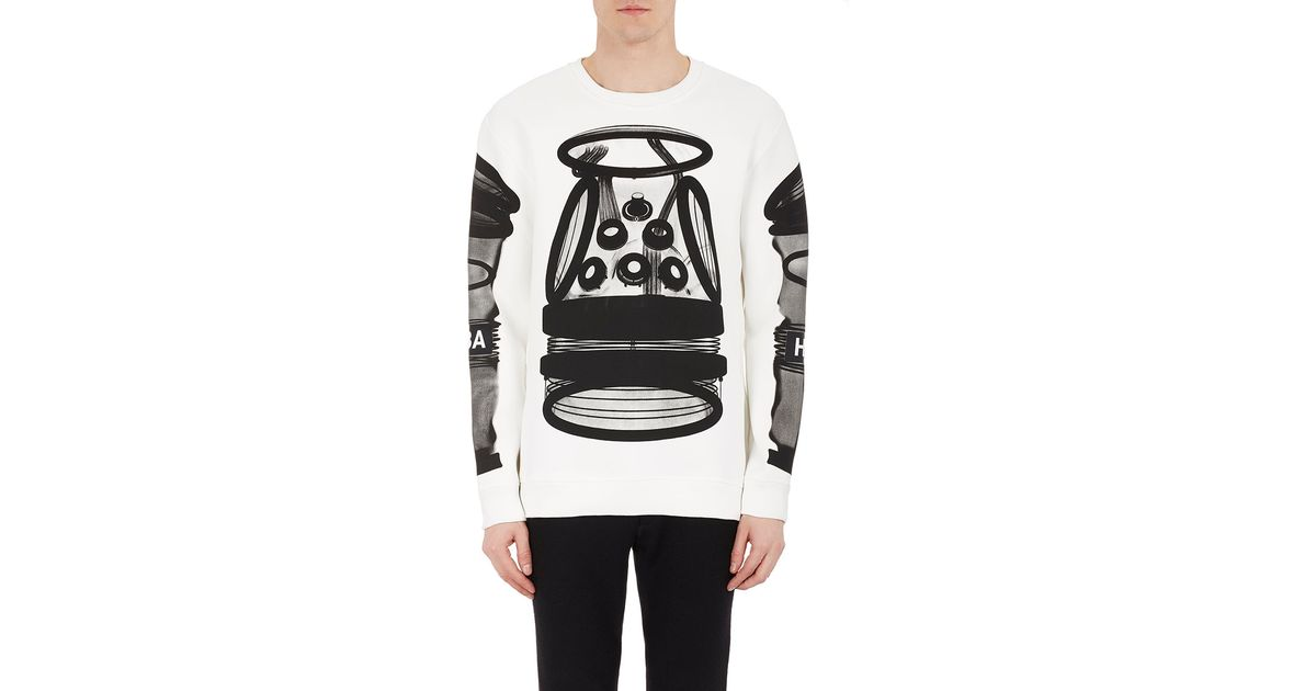 8a78d50107e6 Hood By Air Men s Astronaut-print Sweatshirt in White - Lyst