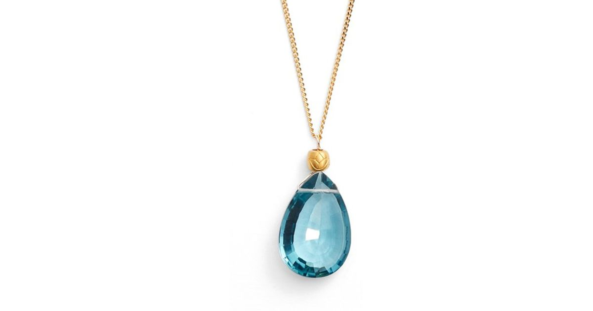 satya jewelry pendant necklace in blue lyst