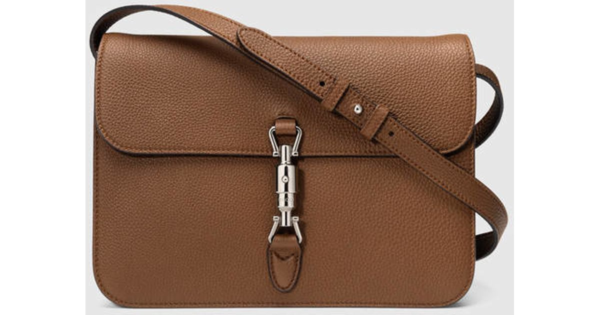 47307b37e98781 Gucci Jackie Soft Leather Shoulder Bag in Brown - Lyst