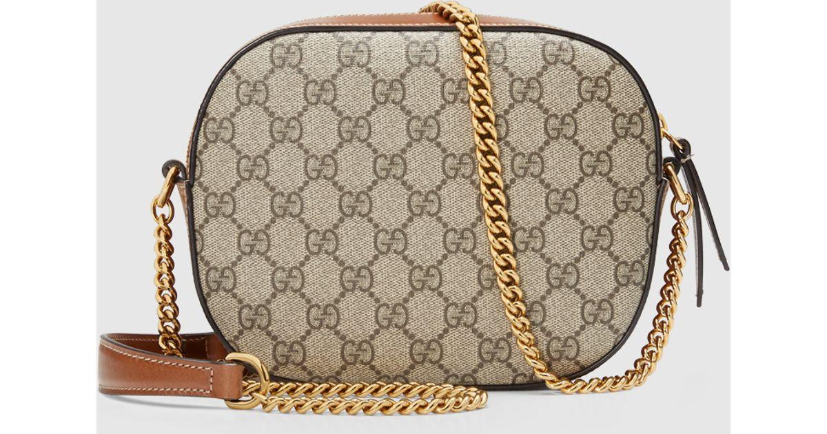 95ad36003f36 Gucci Gg Supreme Mini Chain Bag in Brown - Lyst