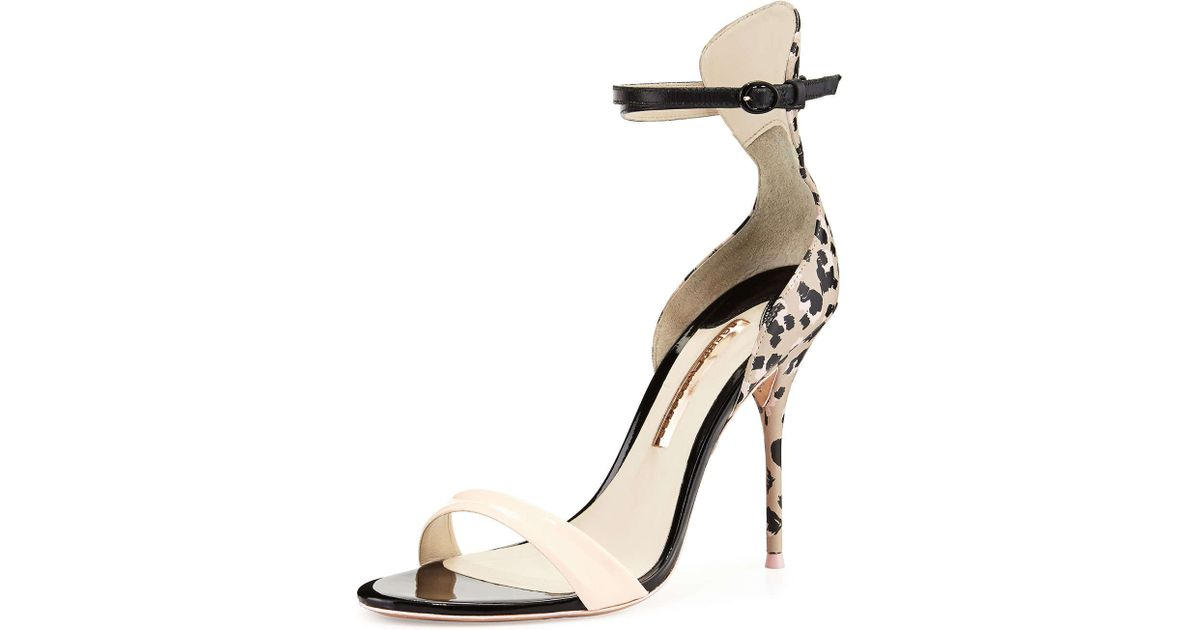 a4703497a1d Lyst - Sophia Webster Nicole Sketch Camo Sandal in Natural