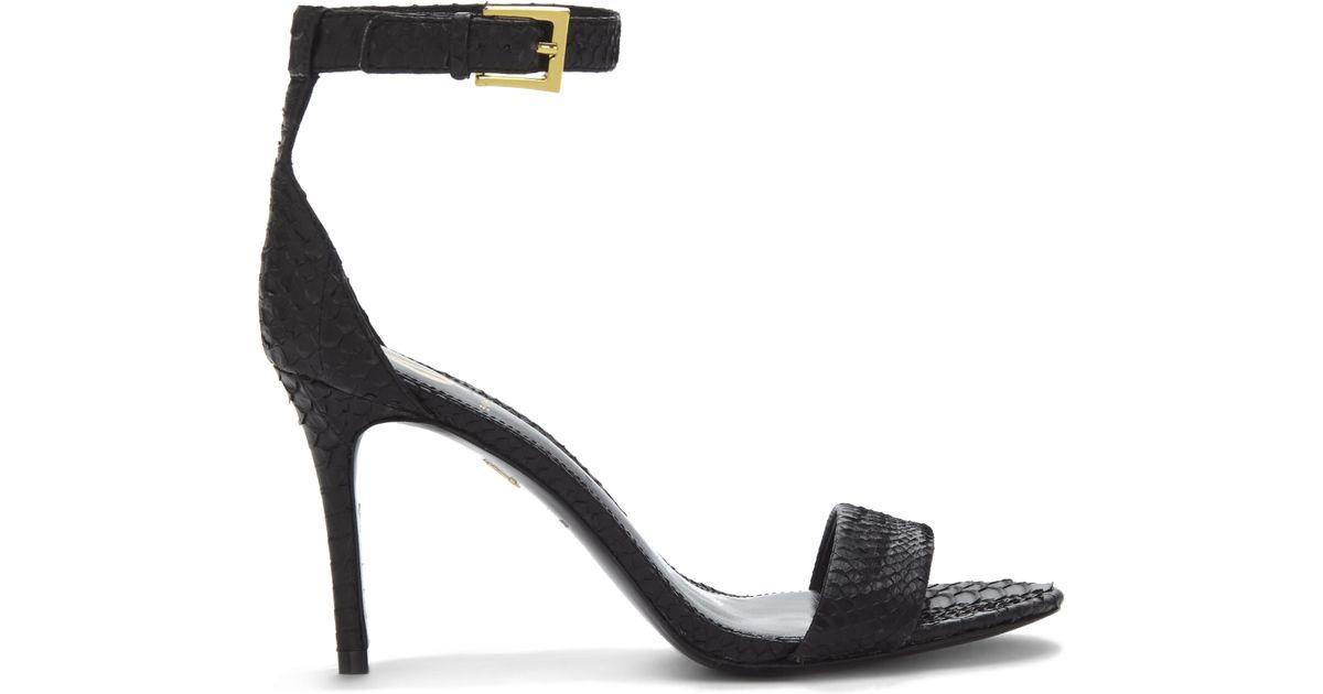 0df26af37ea Lyst - Vince Camuto Vc Signature Jiro - Snakeskin High Heel Sandal in Black